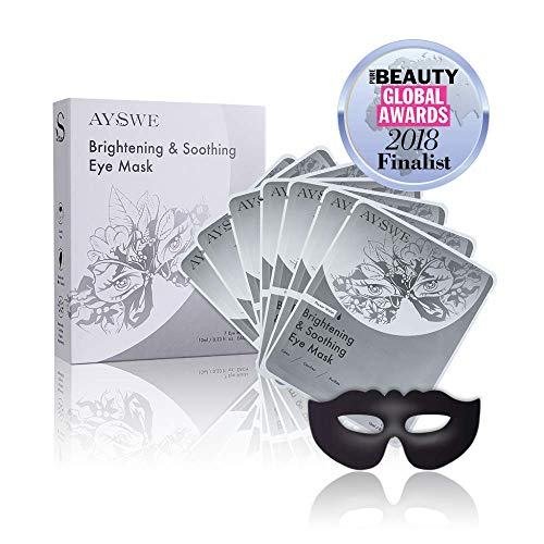 AYSWE Puffy Eye Serum Mask Sheet for Dark Circles Anti-Wrinkle, Hydrating Treatment w Organic Natural blends to Eye Bags, Fine Lines Crow s Feet. 7 Black Charcoal Mask Patches