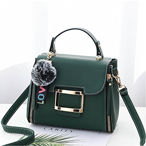 Shoulder Messenger Handbags Mini Summer Small Totes Girls Womens Women's For PU Purse Green Fashion Gifts SYUtw