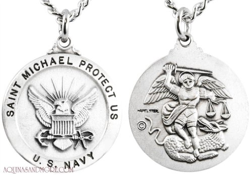Navy/St. Michael Sterling Round (Michael Sterling Round Medal)