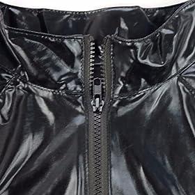 - 517nYL25aNL - FEESHOW Men's Wet Look PVC Leather Like Zipper Catsuit Jumpsuit Costumes