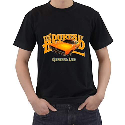 [Dukes Of Hazzard General Lee Car T-Shirt Short Sleeve By Saink Black Size 2XL] (Boss Hog Costume)