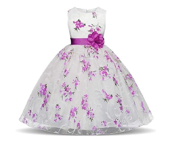 GIO300 Rosa Vestido Bautizo Boda Fiesta Cumpleaños Elegante ...