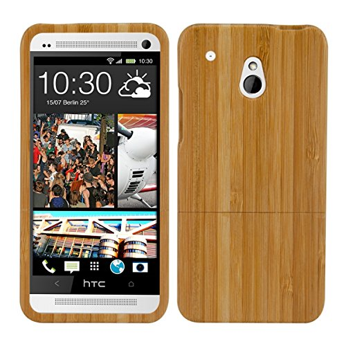 kwmobile Natural wood case for the HTC One Mini M4 in bamboo light brown (Htc One Mini Accesories compare prices)