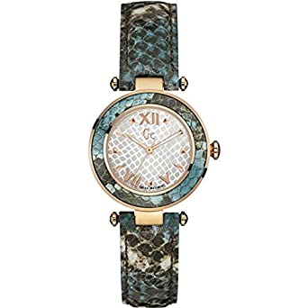 GUESS COLLECTION DAMEN-ARMBANDUHR 32MM ARMBAND LEDER MULTICOLOR QUARZ Y10002L1