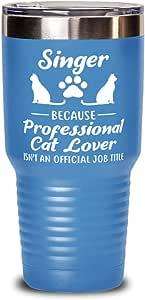 Gift For Cat Loving Translators Tumblers /& Water Glasses Gift For Translator Professional Cat Lover 20 Oz Light Blue Drink Tumbler W Lid