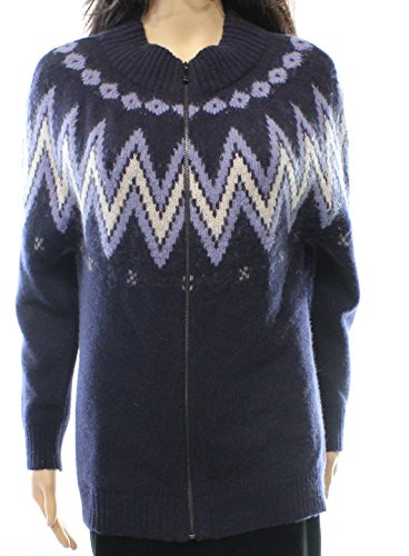 weekend-max-mara-womens-small-full-zip-wool-sweater-blue-s