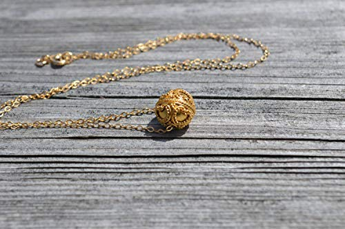 Bali Style Vermeil Beads - Gold Bali Bead Necklace Balinese Style Jewellery