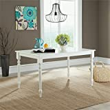 White Wood Dining Table Sauder 416564 White Finish Cottage Road Dining Table