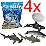 4 X GROWING SEALIFE EGG HATCHING MAGIC TOY GIFT XMAS KIDS FUN SHARKS WATER NEW