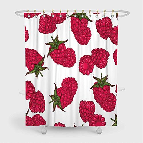 raspberry shower curtain - 1