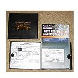 #3: Auto Car Truck Registration Insurance Document Holder Wallet Black Case Id Card