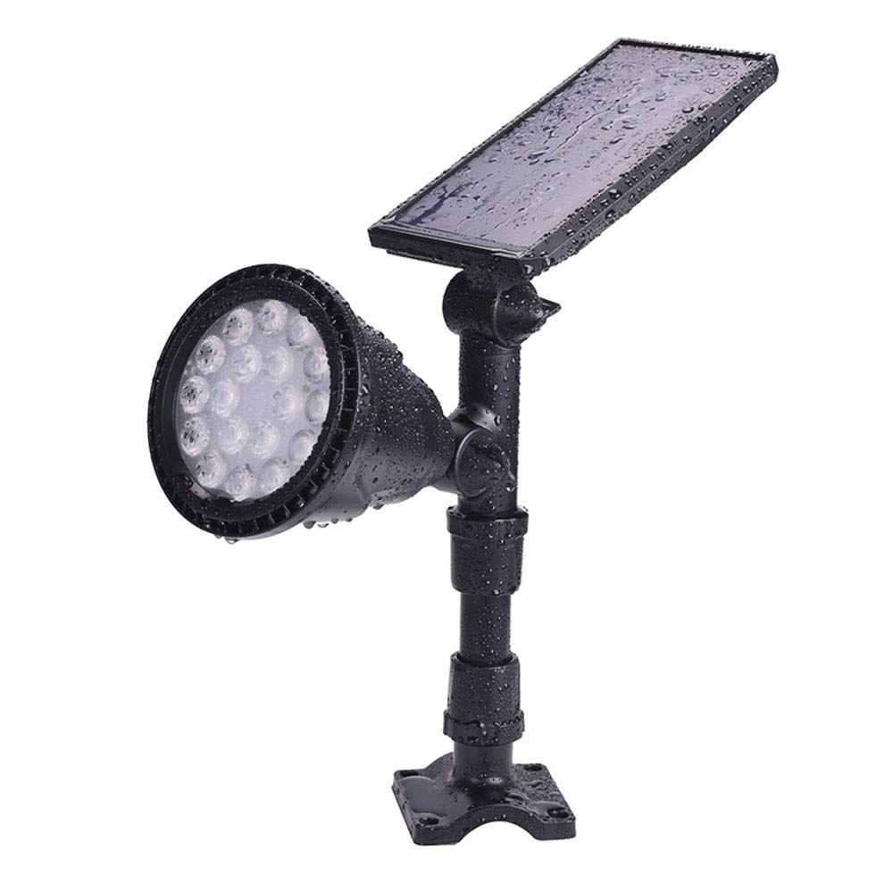 LTAYZ Luce Solare per Esterni Cortile per Esterni Impermeabile 18 LED Super Luminoso a Lungo Raggio Inserto a Terra Faretto a induzione,Warmlight