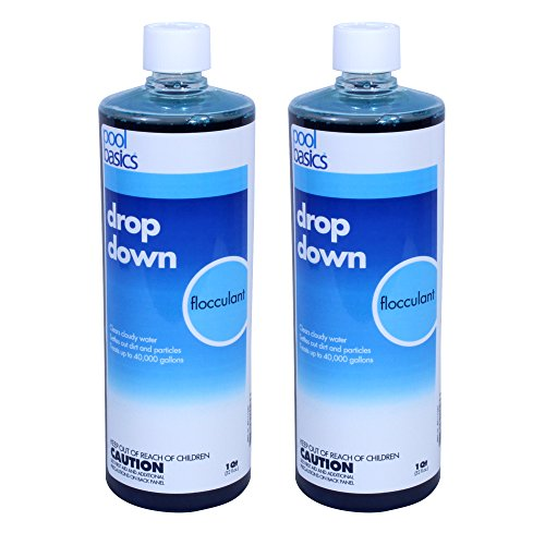 Pool Basics 2440PB-02 Drop Down Liquid Flocculent for Swimming Pools (2 Pack), 1 quart (Drop Down Pool)