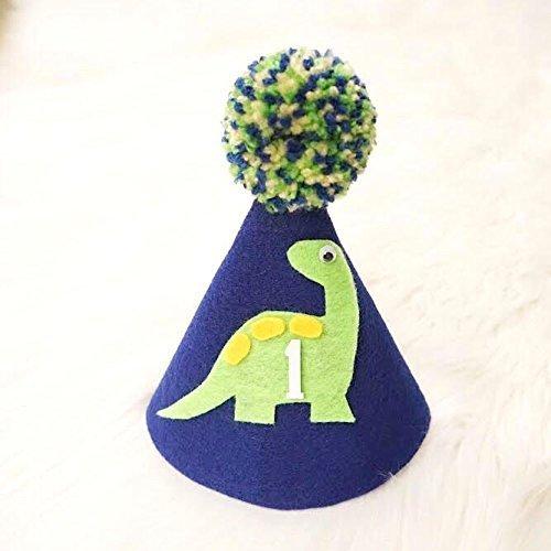 Dinosaur Hat - Dinosaur Birthday - Birthday Hat - First Birthday - Dinosaur Birthday Decoration - Boy