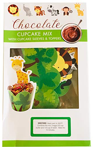 (Too Good Gourmet Chocolate Cupcake Mix 12 Oz! Includes Cupcake Mix, Cupcake Sleeves And Toppers! Decorative Assorted Zoo Animals Toppers! Perfect Cupcake Crafts For Kids! (Chocolate))