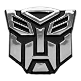 "Transformer Autobot Chrome Finish Car Auto Emblem - 2 1/2"" Tall"