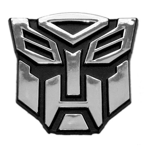 (Transformer Autobot Chrome Finish Auto Emblem - 2 1/2