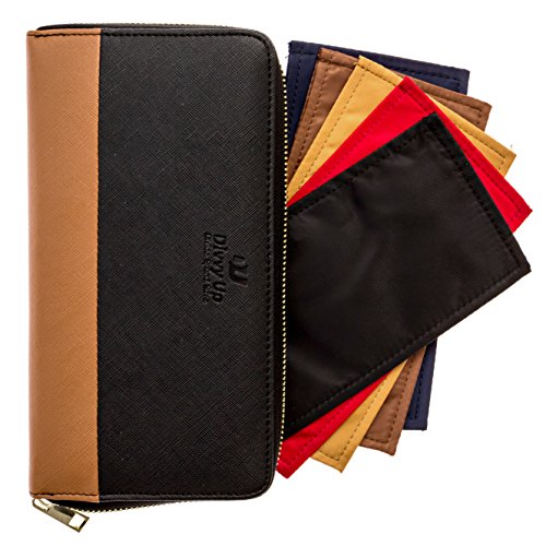 The Great Divide. A Cash System Wallet with 5 Magnetic Cash Envelopes by Divvy Up. (Black & -