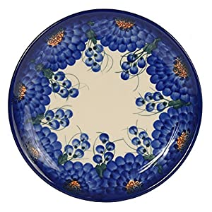 Traditional Polish Pottery, Handcrafted Ceramic Dessert Plate 19cm, Boleslawiec Style Pattern, T.102.Arts