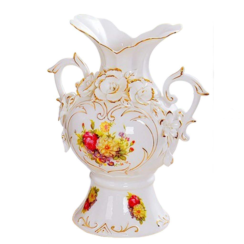 MYXMY 家の装飾セラミックス現代のリビングルームサンプルルームテレビキャビネットワインキャビネットヨーロッパスタイルの創造的な翡翠磁器ゴールド花瓶装飾 (サイズ さいず : B) B07QGYPPLN  B