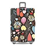 Artone Floral Washable Spandex Travel Luggage Protector Baggage Suitcase Cover Fit 26-28 Inch Luggage Black