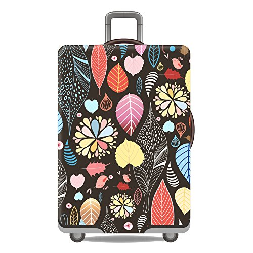 - Artone Floral Washable Spandex Travel Luggage Protector Baggage Suitcase Cover Fit 22-24 Inch Luggage Black