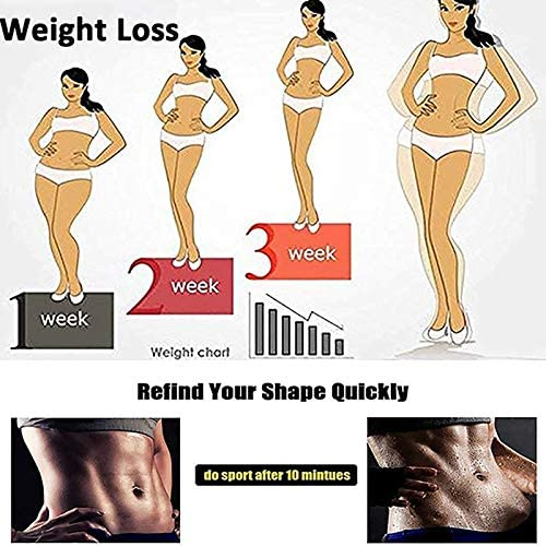 Womens Thermo Shaper Pants, High Waist Sauna Sweat Shorts for Girls, Hot Slimming Compression Shapewear, Elastic Waist Trainer Tummy Control Fitness Weight Loss Workout Thigh Pants 3