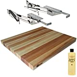 Rev-A-Shelf RAS-ML-HDCR Full Height Base Cabinet Heavy Duty Mixer Lift - Includes 1-1/2''x18''x21'' Shelf Platform for 24'' width Base Cabinet - Maple Butcher Block - w John Boos Mystery Oil 16 oz Bottle