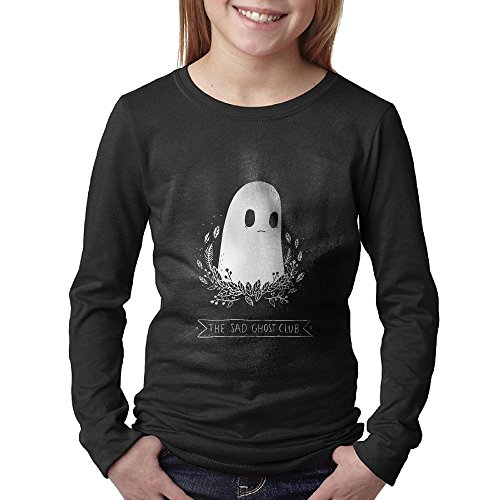 Sad Ghost Club Juniors Long Sleeve Cotton Crew Neck T-Shirt Tee