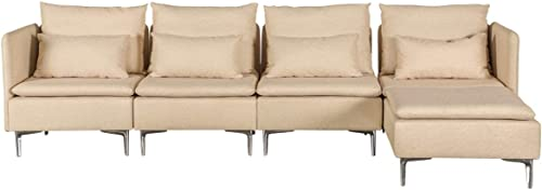 MELLCOM Convertible Sectional Sofa Couch
