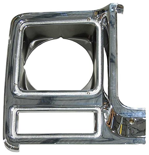 - Auto Metal Direct Headlight Bezel - RH Chrome/Dark Gray - 79-80 Chevy GMC Truck Blazer Jimmy Suburban