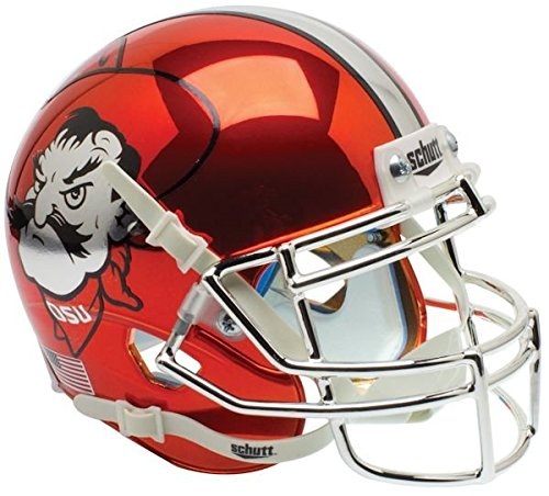 OKLAHOMA STATE COWBOYS MINI Football Helmet OSU (CHROME)
