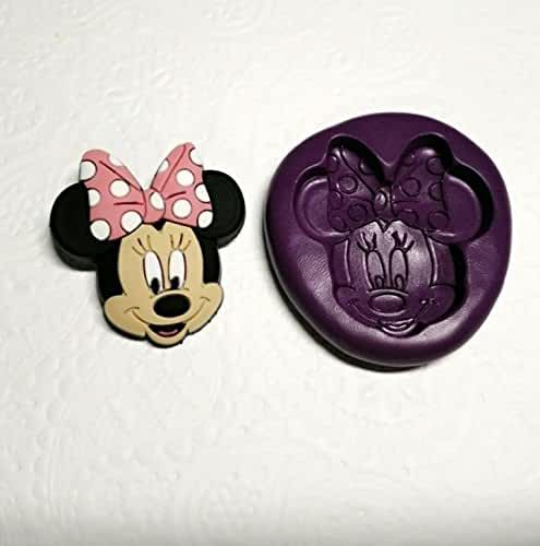 Silicone Mold Minnie Mouse (36mm) Fondant Cake Topper Chocolate Cookie Plaster