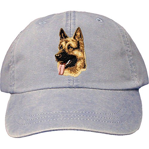Cherrybrook Dog Breed Embroidered Adams Cotton Twill Caps - Periwinkle - German Shepherd (German Shepherd Hat)