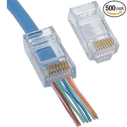 Stupendous Amazon Com Platinum Tools 105004 Ez Rj45 Cat6 Connector 500 Pack Wiring Digital Resources Dimetprontobusorg