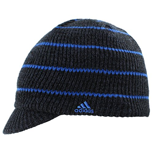 adidas Men's Ace Brimmer Beanie, Black/Deepest Space/Blue, One (Adidas Winter Hat)