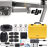 DJI Mavic Pro Platinum Fly More Combo with Custom Nanuk Waterproof Hard Case (Yellow)