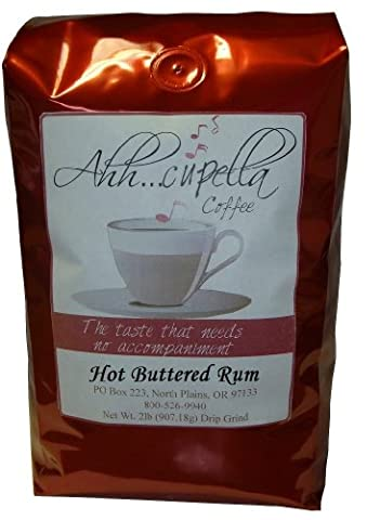 Ahh..Cupella Premium Gourmet Hot Buttered Rum Flavored Ground Coffee, 32oz bag - Hot Buttered Rum