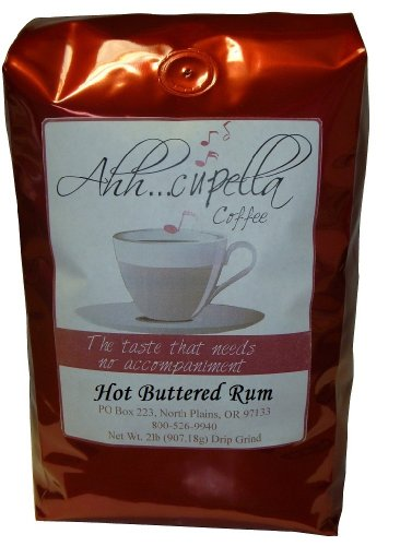 Ahh..Cupella Premium Gourmet Hot Buttered Rum Flavored Whole Bean Coffee, 32oz bag