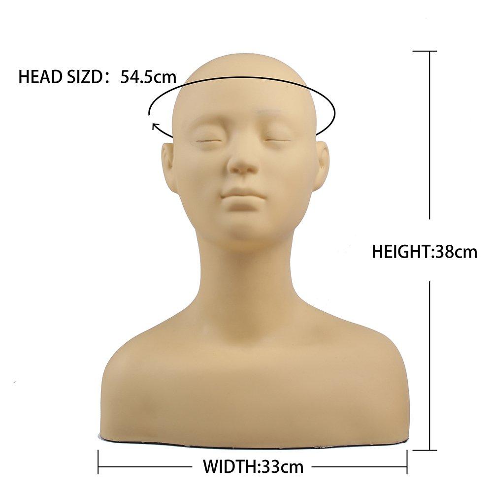 L7 Mannequin Reusable Mannequin Manikin Head Bust Eyelashes Makeup Massage Practice