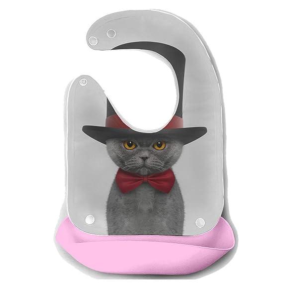 Moda Baberos Chica Gato Usar Corbata Retrato Desmontable Silicona ...