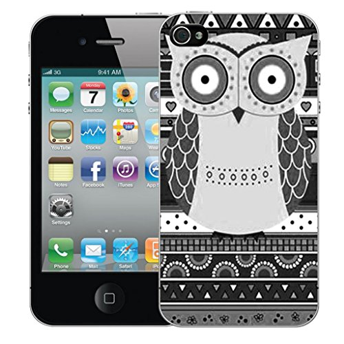 iphone 5 5s Dur Coque couverture Pare-chocs Case Cover - noir owl conception par Mobile Case Mate
