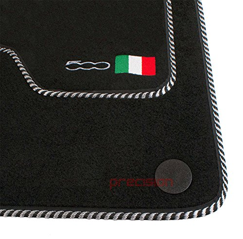 Fitted Tailored Mats with 500 Logo & Silver/Black Bind Precision