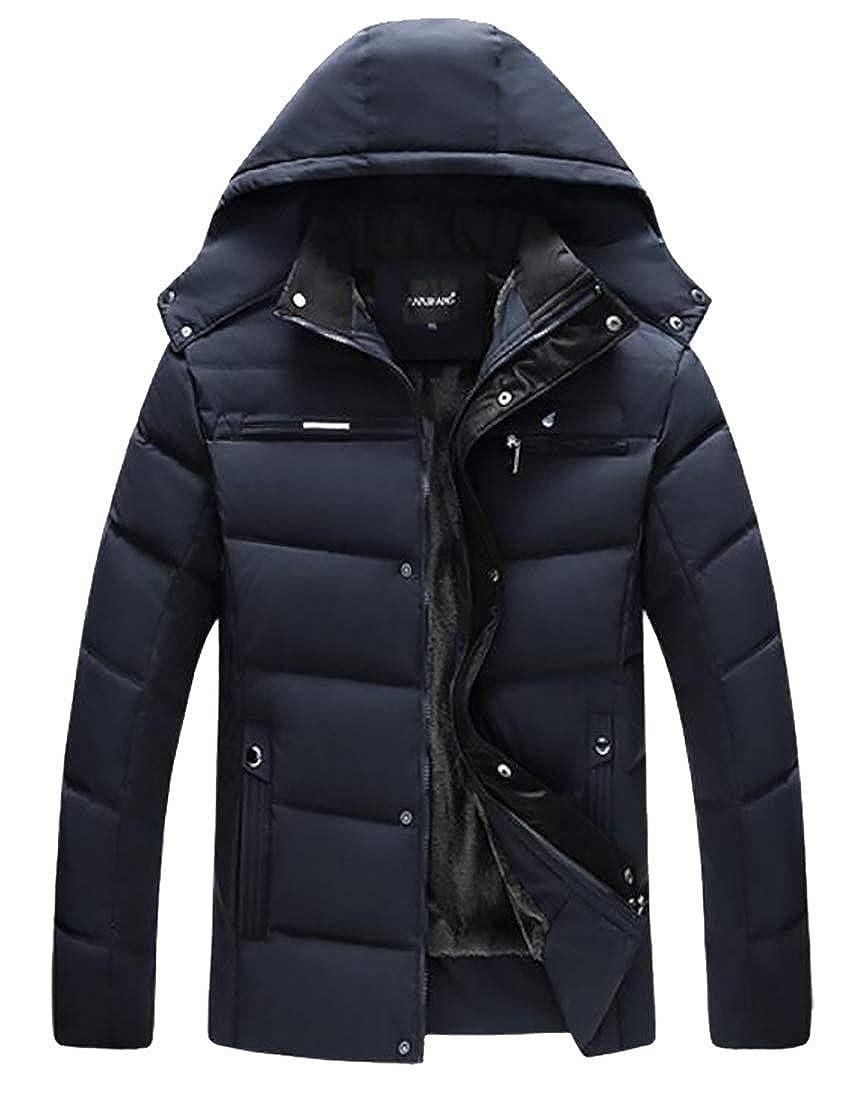 Beloved Fashion Men Warm Winter Cotton Thick Jacket Outwear Hooded Coat