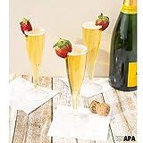 Bulk One Piece Plastic Champagne Flute Glasses for