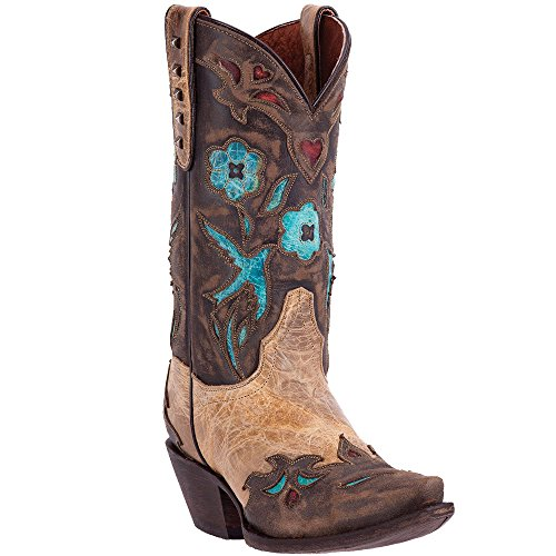Dan Post Womens Tan Vintage Bluebird Leather Cowboy Boots 12in 7.5 M