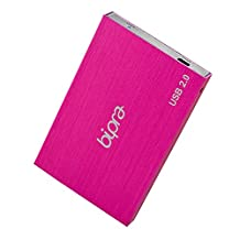 Bipra 200Gb 200 Gb 2.5 Usb 2.0 External Pocket Slim Hard Drive - Sweet Pink - Fat32