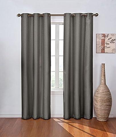 Eclipse 11050042X063SMK Madison 42-Inch by 63-Inch Blackout Single Window Curtain Panel, Smoke (Eclipse 42x63)