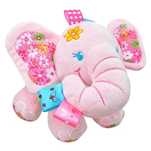 Cute Plush Lullaby Musical Elephant for Baby (Pink)