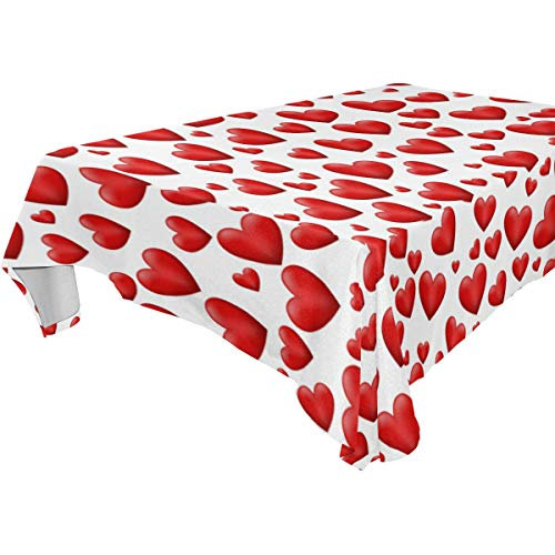 WIHVE Rectangle Tablecloth Valentine's Day Red Love for sale  Delivered anywhere in USA